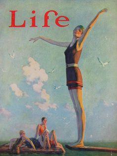 Davis, Warren (b,1865)- Last Pose of Summer- 'Life'- Sept. 1924
