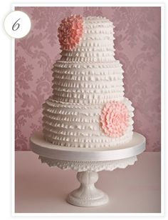 Shabby Chic Butter Cream Cakes - Bing Images.  Sweet and simple I really like less is more.