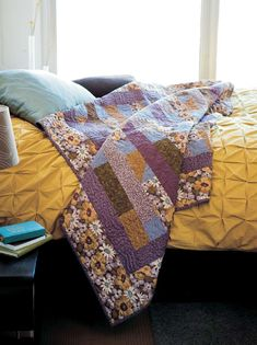 Fans of fat quarter quilts - rejoice! The Fat Quarter Six Pack quilt from Easy Quilts Summer 2012 is here. Use up that collection of fat quarters that have been waiting for perfect fat quarter quilt patterns to come along. This is it, quilters. You'll want to make this quilt over and over. Grab a six pack of fat quarters and get sewing!