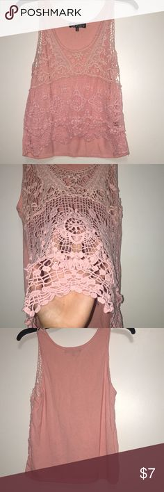 Top Cute see through top only worn a couple times. See through from the front and covered in the back. Tops Blouses