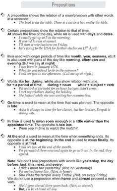 Forum | ________ English Grammar | Fluent LandPrepositions in English | Fluent Land