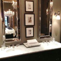 beautiful glamorous bathroom with art deco oversized mirrors elegant mirror
