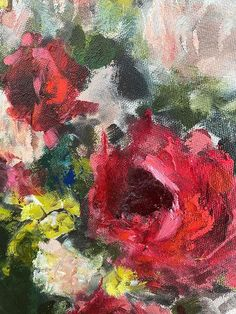 Heidi Shedlock | Pocke Full of Posies - available for sale | StateoftheART Round Canvas, Canvas Size, Original Paintings, Pastel, Fine Art, Pocket, Gallery, Floral, Artwork