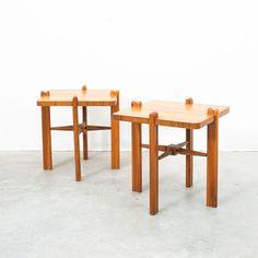 Austrian Walnut Side Tables, circa 1955 /DERIVE-Vienna