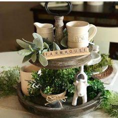 Farmhouse Kitchen Display - cute!