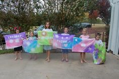 Pillowcase painting party, great party idea for kids. Guests can use Simply Spray Soft Fabric Paint on pillowcases, an activity and party favor in one.