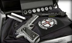 Wicked Laser with Lenses and 1911 Pistol