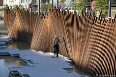 Creation at Tanner Springs Park in Portland, OR by Artist Herbert Dreiseitl