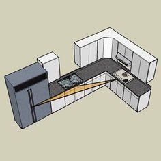 kitchen layouts with island | Basic Kitchen Layout Options
