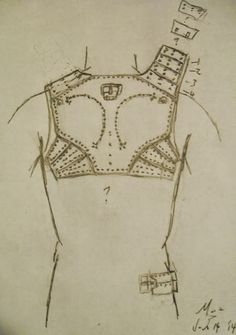 Sketch from Robert MacPherson on how these backplates and lames could have been arranged.