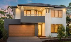 The Bridgetown home design redefines two storey living as it showcases architectural good manners and quality finishes throughout. Mcdonald Jones Homes, Mexico House, Bridgetown, Storey Homes, Paint Colors For Living Room, Australian Homes, Modern House Plans, New Home Designs, Facade House