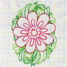 "This free embroidery design from Designs by Sick is from their ""Colorwork Spring Floral"" collection."