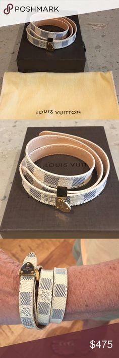 Louis Vuitton Damier Bracelet NIB. Louis Vuitton Damier Box It Wrap Bracelet. Never Worn. Pristine Condition. Louis Vuitton Jewelry Bracelets
