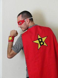 Adult Super Hero Cape Set by JulieMarieKids on Etsy, $40.00