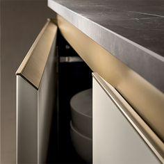 Marble Furniture, Furniture Handles, Modern Kitchen Cabinets, Kitchen Cabinet Design, Home Decor Kitchen, Kitchen Interior, Pantry Inspiration, Interior Design And Construction, Joinery Details