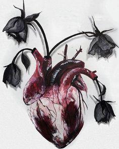 Medical tattoo design anatomical heart ideas for 2019 Heart Painting, Anatomy Art, Heart Anatomy Drawing, Anatomical Heart Drawing, Anatomy Tattoo, Art Graphique, Gothic Art, Art Inspo, Art Sketches