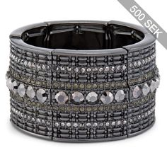 Chico's Jillian Simulated Black Diamond Bracelet