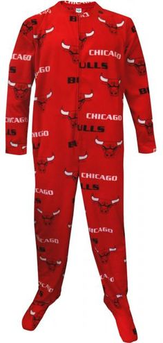 WebUndies.com Chicago Bulls Guys One Piece Footie Pajama