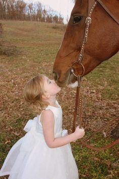 horse girl kiss