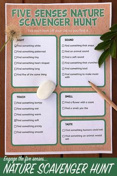 - Nature Scavenger Hunt Printable: Exploring Nature With the 5 Senses – youthful scavenger hunt ideas kids , scavenger hunt ideas for kids , hunt ideas for kids outdoor , scavenger hunt ideas Forest School Activities, Nature Activities, Summer Activities, Toddler Activities, Outdoor Activities, Outside Activities For Kids, Science Activities, Family Activities, Science Nature