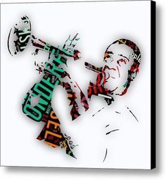 Louis Armstrong What A Wonderful World Lyrics Canvas Print / Canvas Art By Marvin Blaine
