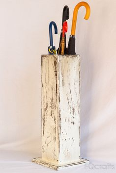 Wooden Umbrella Stand and Walking Cane Holder - Store Umbrellas and Canes by fqcrafts on Etsy https://www.etsy.com/au/listing/206675106/wooden-umbrella-stand-and-walking-cane