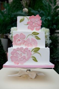 peony cake by cristina, These flowers could be made by the Pazzles cutting machine.