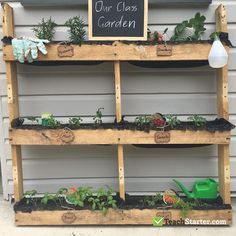 If I can create this class garden, anyone can. Toddler Classroom, New Classroom, Classroom Themes, Classroom Projects, Garden Theme Classroom, Outdoor Classroom, Diy Garden, Garden Projects, Gnome Garden
