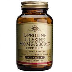 L-Prolina 500mg L-Lisina 500mg 90 comprimidos – Herbolario Oriente