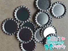 Silver Chrome Double Sided Flattened Bottle Cap