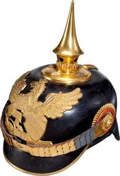 Baden Model 1897 Officers' Spiked Helmet (Pickelhaube)....