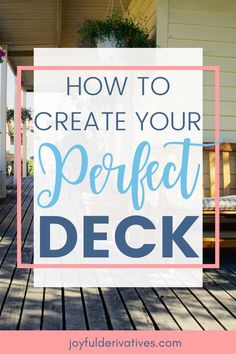 Use these 15 ideas to create your perfect deck or patio space. You can update your yard and make it the place you've always dreamed of!