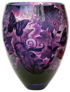 Intrinsic Butterfly Foliage Amethyst - Jonathan Harris Art Glass