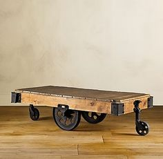 I am going to get one of these for our livingroom coffee table. LOVE the idea of using old items in a new way.