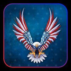 American Flag Wallpaper, American Flag Art, Flying Flag, Patriotic Symbols, Eagle Painting, Patriotic Pictures, Snoopy Pictures, Eagle Art, Eagle Tattoos