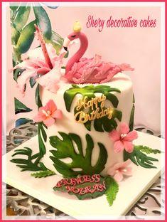 Flamingo cake🌸 - cake by Shereen Adel Luau Birthday Cakes, 12th Birthday Cake, Baby First Birthday Cake, Birthday Cake For Him, Flamingo Cake, Flamingo Birthday, Beautiful Birthday Cakes, Fancy Desserts, Colorful Cakes