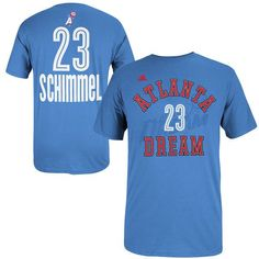Shoni Schimmel adidas Women's Name & Number T-Shirt - Dream Blue - $16.99