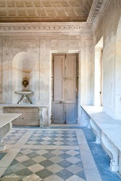 Versailles Marie Antoinette creamery, where she would sit to receive fresh milk and cream to drink......
