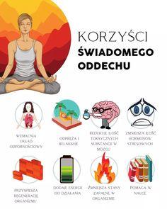 Jak radzić sobie ze stresem - świadomy oddech, ćwiczenia i techniki relaksacyjne. Ćwiczenia zmniejszające stres - Motywator Dietetyczny Sudarshan Kriya, Yoga Meditation, Reiki, Health And Beauty, Life Hacks, Coaching, Fitness Motivation, Workout, Humor