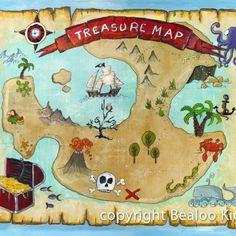 $40  Kids Wall Art Set of Three 8×10 Pirate Prints