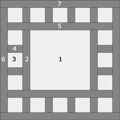 The Dewey quilt block design