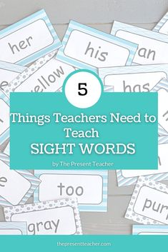 Do you want some extra tips on how to teach Sight Words? Here are 5 things you can do to teach Sight Words effectivley this year. Let's get started! Dolch Sight Words, Sight Word Games, Sight Word Activities, Kindergarten Classroom Setup, Kindergarten Learning, Primary Activities, Learning Activities, Teaching Ideas, Reading Fluency