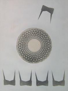 """E. Besozzi pitt. 1968 Composizione di centri su cartoncino cm. 70x50 arc. 840 Bibliografia: R. F. Frangi, """"Art-Studio"""" n° 4, aprile 1969 pag. 6 Ripr.  Baj, G. Kaisserlian,  Mastrolonardo, Radice, Fagnoni, L. Fontana, pref. monografia,""""Palazzo dell'Arengario"""", Milano, 9 sett. Paccini, Walter Besozzi, Tolu Pref. catalogo disegni inediti 2013 Esposizione: Milano, Palazzo dell'Arengario, settembre 1977 Milano, Palazzo Comunale Villa Litta, feb./mar. 2008 Vergiate, Biblioteca Comunale, giugno…"""