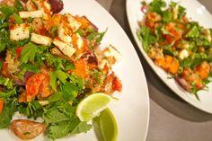 Qunioa Salad with Grilled Haloumi   Nourish Wholefoods