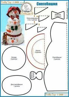 icu ~ Pin on Świąteczne -zima ~ This Pin was discovered by Anna Gaj. Felt Snowman, Snowman Crafts, Christmas Projects, Felt Crafts, Holiday Crafts, Christmas Ideas, Christmas Sewing, Felt Christmas, Christmas Snowman
