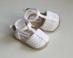 ADELE Crochet Baby Girl Sandals Summer Baby Shoes Cotton