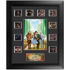 Handsome piece commemorates 1939's The Wizard Of Oz with clips of 35mm film, an image from the movie, and a descriptive plaque.