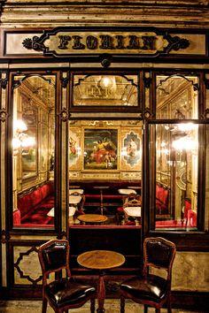 Florian, Venice Italy Cafe Florian, Venice Italy - Venice's first coffee shop! VenetoCafe Florian, Venice Italy - Venice's first coffee shop! Restaurant Door, Modern Restaurant, Restaurant Interior Design, Amalfi, Rome, Venice Travel, Venice Tours, Italy Travel Tips, Italy Vacation