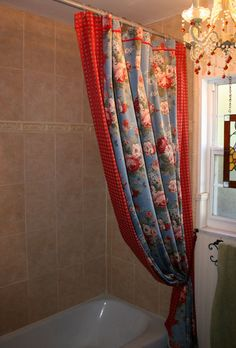 Simply Country Chic With A Splash Of Whimsy Shower Curtains. $160.00, via Etsy.