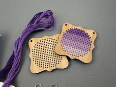 Kit - Quatrefoil Pendant Cross Stitch Kit in Bamboo on Etsy, $21.93 AUD